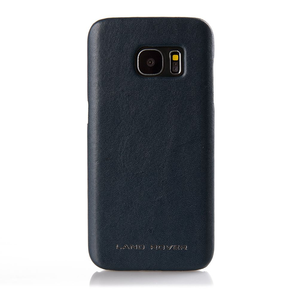 Кожаный чехол для Samsung Galaxy S7,<p> Navy | Land Rover